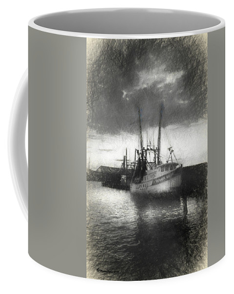 Shrimp Coffee Mug featuring the mixed media Southern Grace by Marvin Spates