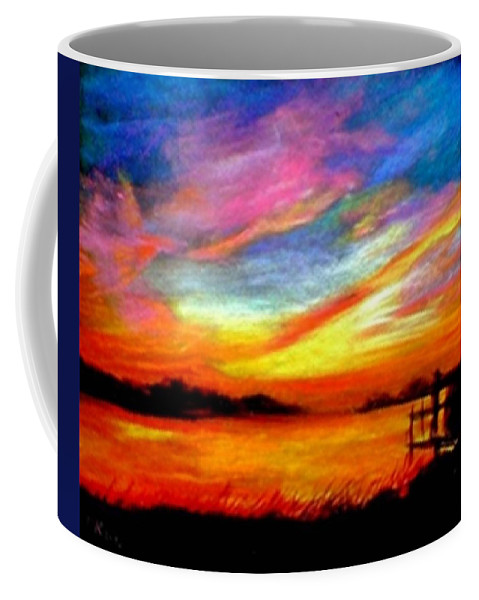 Sunset Coffee Mug featuring the painting Southern Sunset by Gail Kirtz