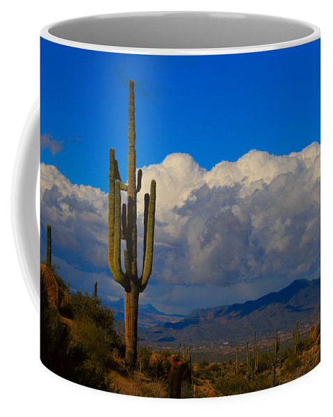 Southwest Coffee Mug featuring the photograph Southwest Saguaro Desert Landscape by James BO Insogna