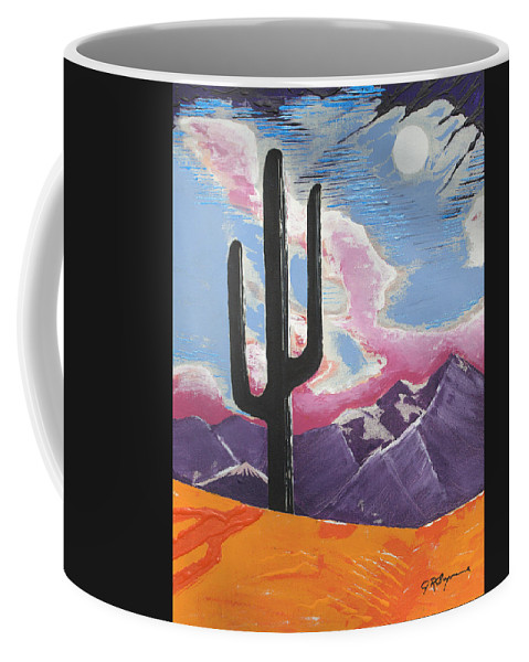 Impressionist Painting Coffee Mug featuring the painting Southwest Skies 2 by J R Seymour
