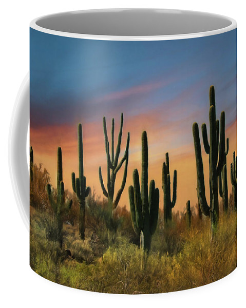 Southwest Coffee Mug featuring the photograph Southwest Sunset by Lori Deiter