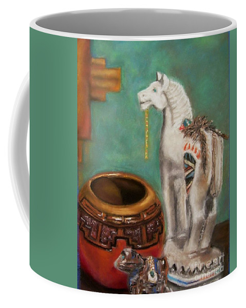 Southwest Art Coffee Mug featuring the painting Southwest Treasures by Frances Marino