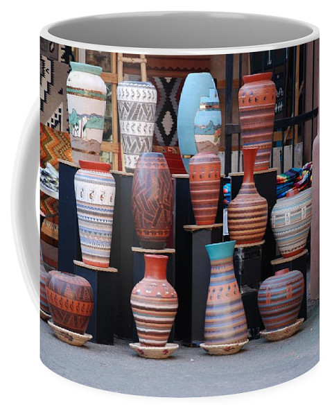 Southwestern Coffee Mug featuring the photograph Southwestern Potery by Rob Hans