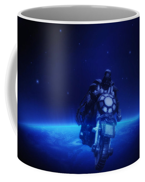 Darth Coffee Mug featuring the photograph Space Cowboy by Bill Cannon