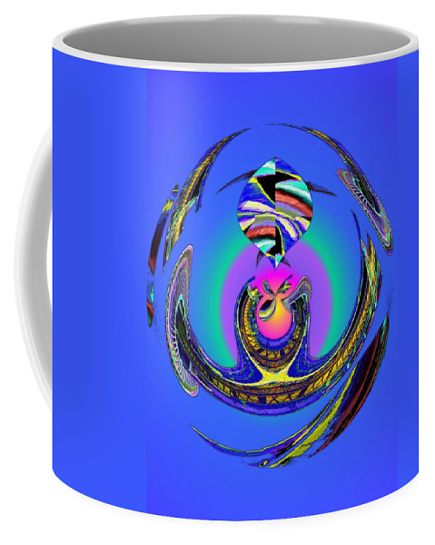 Seattle Coffee Mug featuring the digital art Space Needle And The Experience Music Project Two by Tim Allen