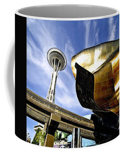Space Coffee Mug featuring the photograph Space Needle by Robert Ponzoni