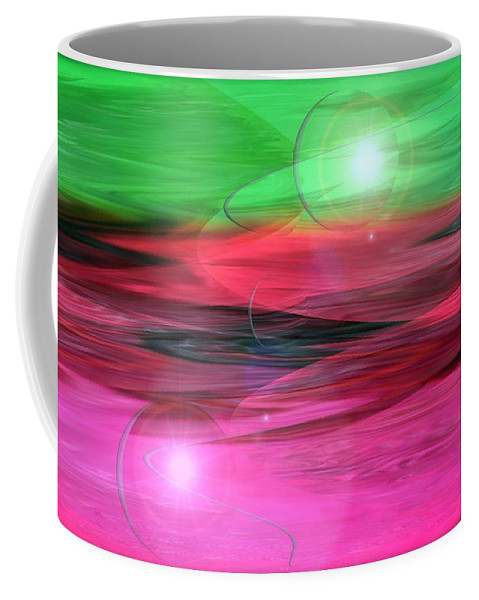 Space Art Coffee Mug featuring the digital art Space Oddity by Linda Sannuti