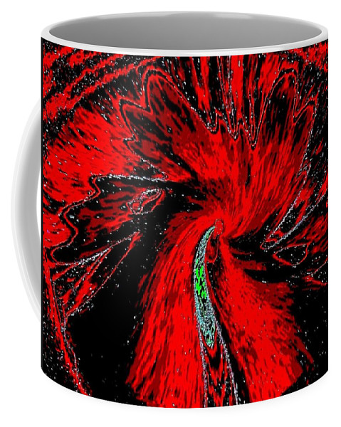 Abstract Coffee Mug featuring the digital art Space Poppy by Will Borden