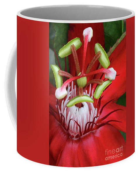 Passion Flower Coffee Mug featuring the photograph Space Station by Sabrina L Ryan