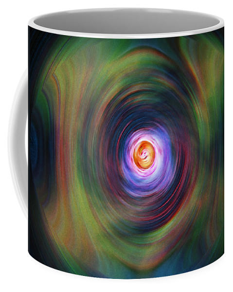 Abstrract Coffee Mug featuring the digital art Space Time Sequence by Don Quackenbush
