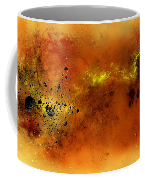 Abstract Coffee Mug featuring the digital art Space012 by Svetlana Sewell