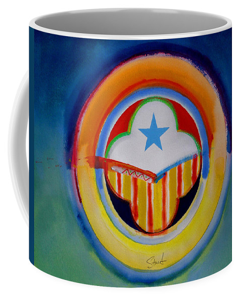 Button Coffee Mug featuring the painting Spanish American by Charles Stuart