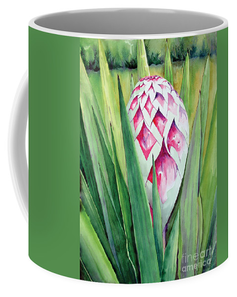Floral Painting Coffee Mug featuring the painting Spanish Dagger II by Kandyce Waltensperger