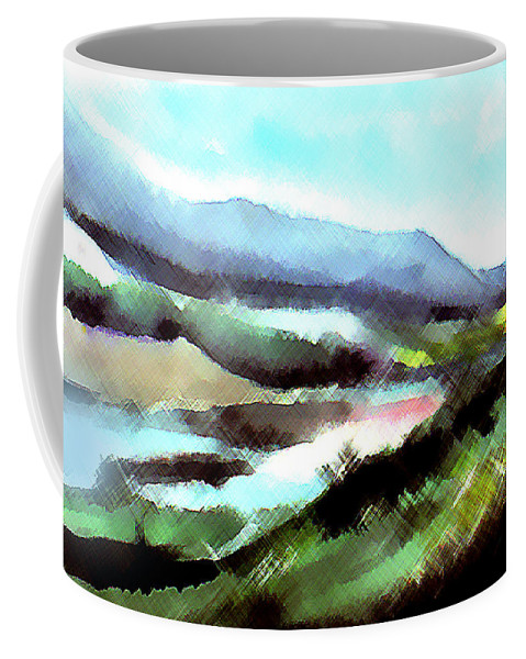 Digital Art Coffee Mug featuring the painting Sparkling by Anil Nene