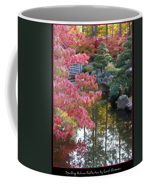 Fall Coffee Mug featuring the photograph Sparkling Autumn Reflection by Carol Groenen