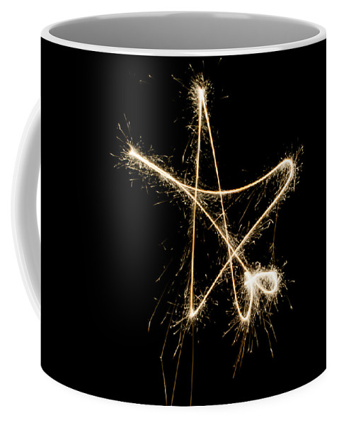 Long Exposure Coffee Mug featuring the photograph Sparkling Star by Helen Northcott