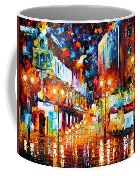 Afremov Coffee Mug featuring the painting Sparks Of Freedom by Leonid Afremov