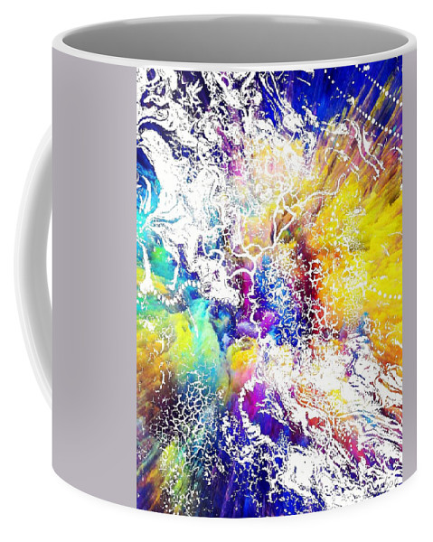 Coffee Mug featuring the painting Spazz by Anitra Carter