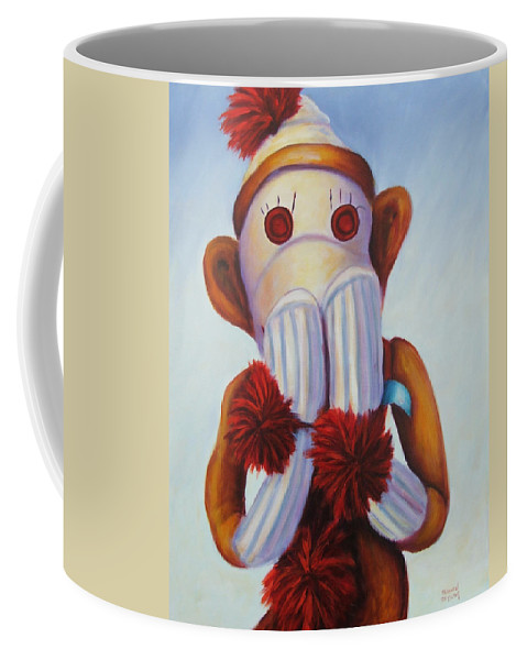 Children Coffee Mug featuring the painting Speak No Bad Stuff by Shannon Grissom