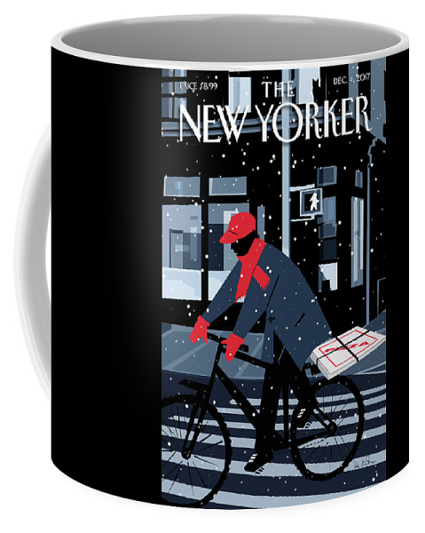 Special Delivery Coffee Mug featuring the digital art Special Delivery by Kim DeMarco