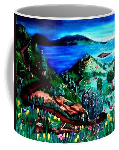 Landscape Coffee Mug featuring the painting Special Land by Andrew Johnson