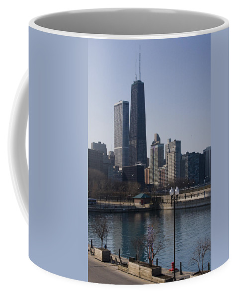 Chicago Windy City Skyline Building Skyscraper Water Lake Michigan Blue Sky Coffee Mug featuring the photograph Special Moment by Andrei Shliakhau