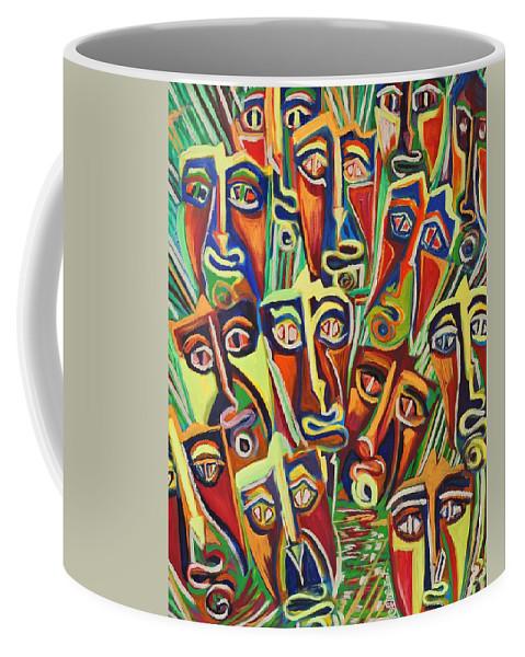 Spectators Coffee Mug featuring the painting Spectators. The Defeat by Caroline Street