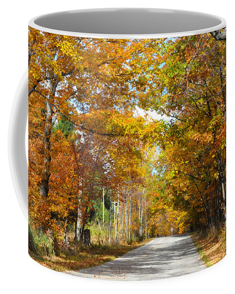 Fall Coffee Mug featuring the photograph Speed Limit 25 Mph by Tim Nyberg