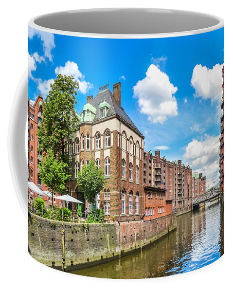 Architecture Coffee Mug featuring the photograph Speicherstadt Warehouse District In Hamburg by JR Photography