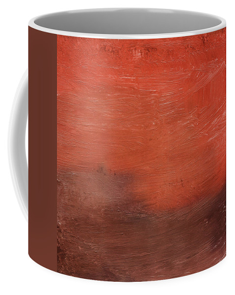 Abstract Coffee Mug featuring the mixed media Spice- Abstract Art By Linda Woods by Linda Woods