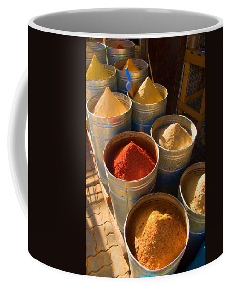 Spices Coffee Mug featuring the photograph Spices In Marrakesh Morroco by David Smith