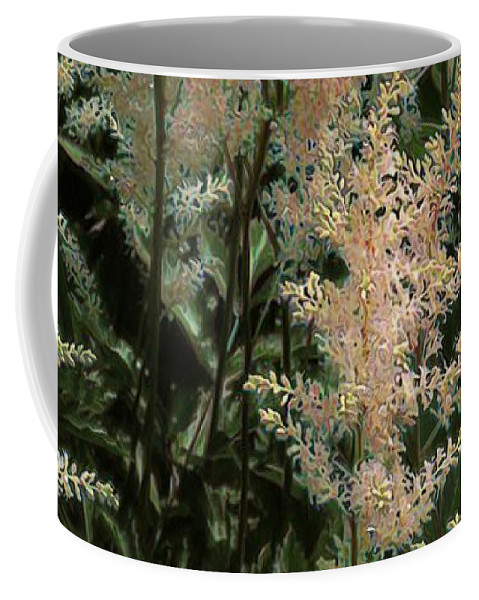 Astilbe Coffee Mug featuring the painting Spikes Sunkissed by RC DeWinter