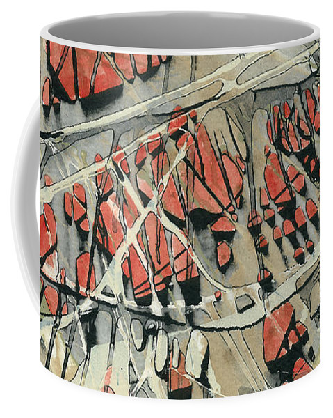Abstracts Coffee Mug featuring the painting Spinart Riverwash II by Meridith Martens