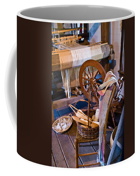 Spinning Coffee Mug featuring the photograph Spinning And Weaving by Douglas Barnett