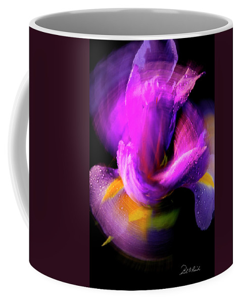 Color Coffee Mug featuring the photograph Spinning Iris by Frederic A Reinecke