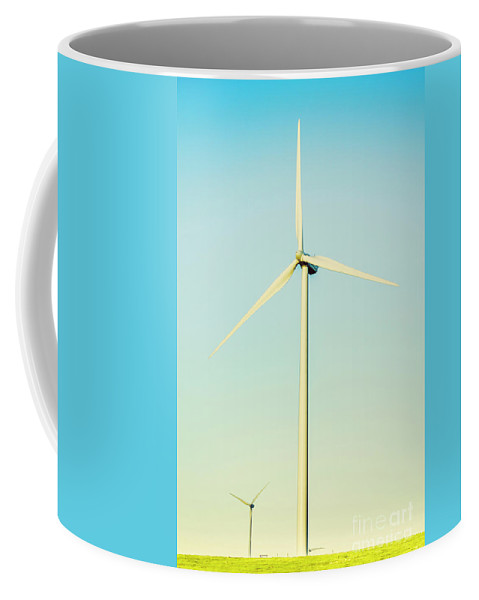 Wind Coffee Mug featuring the photograph Spinning Sustainability by Jorgo Photography - Wall Art Gallery