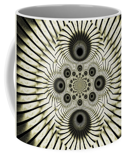 Spiral Coffee Mug featuring the digital art Spiral Eyes by Charleen Treasures