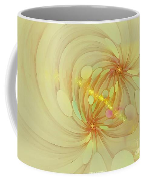 Fractal Coffee Mug featuring the digital art Spiral Mind Connection by Deborah Benoit