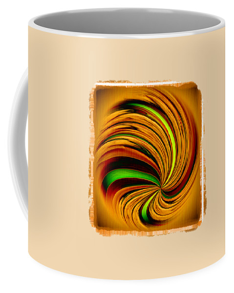 Abstract Coffee Mug featuring the photograph Spiral On Wood by John M Bailey