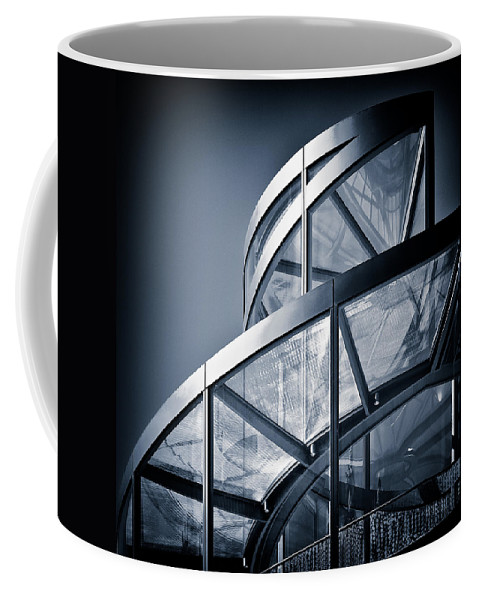 Spiral Coffee Mug featuring the photograph Spiral Staircase by Dave Bowman