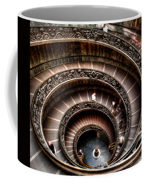 Spiral Staircase Coffee Mug featuring the photograph Spiral Staircase No1 by Weston Westmoreland
