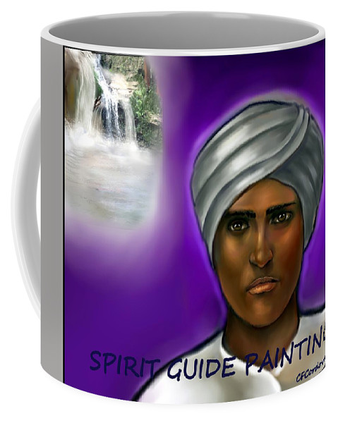 Spirit Guide Coffee Mug featuring the digital art Spirit Guide Collection by Carmen Cordova