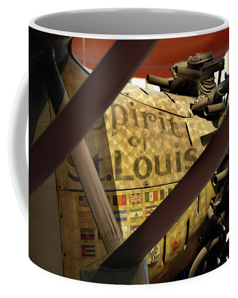 Spirit Of St. Louis Coffee Mug featuring the photograph Spirit Of St Louis At Smithsonian by Skip Willits