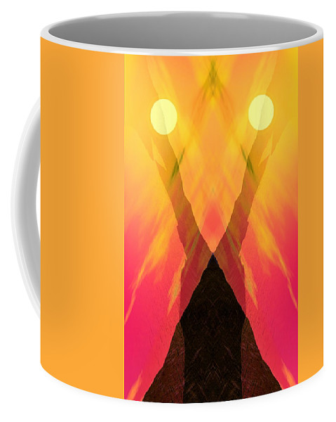 Coffee Mug featuring the digital art Spirit Of The Mountain by David Lane