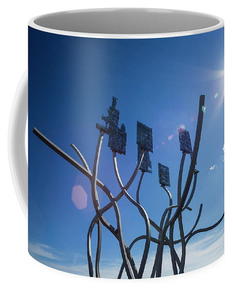 Blyth Coffee Mug featuring the photograph Spirit Of The Staithes by David Taylor