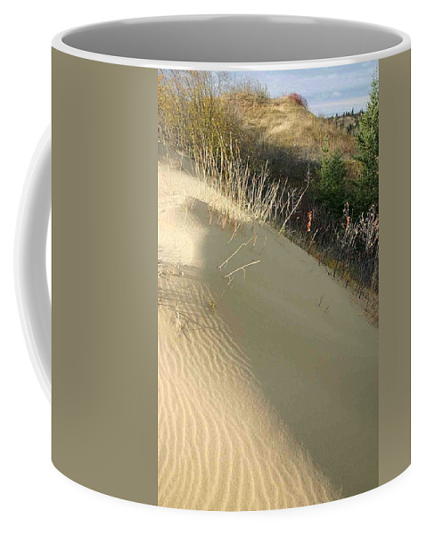Spirit Sands Coffee Mug featuring the photograph Spirit Sands - Late Day by Nelson Strong