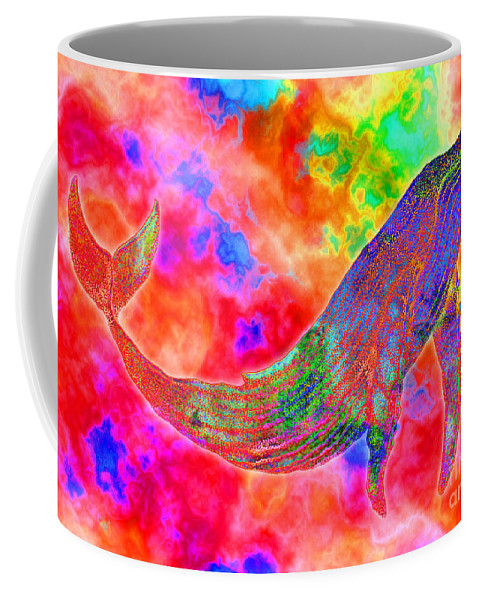 Whale Coffee Mug featuring the drawing Spirit Whale by Nick Gustafson