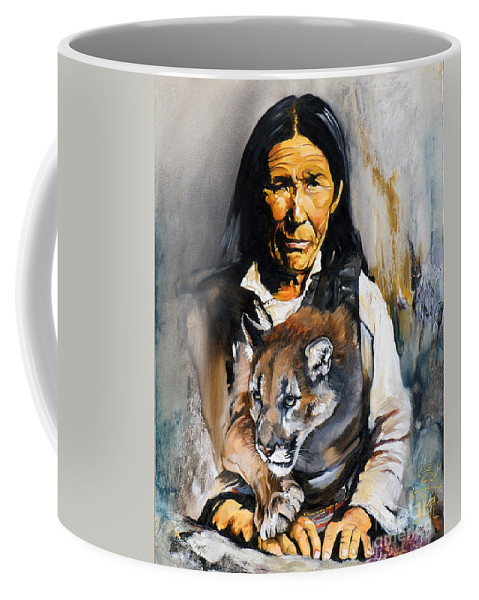 Spiritual Coffee Mug featuring the painting Spirit Within by J W Baker