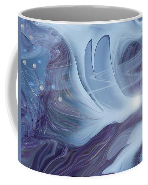Abstract Coffee Mug featuring the digital art Spirit World by Linda Sannuti