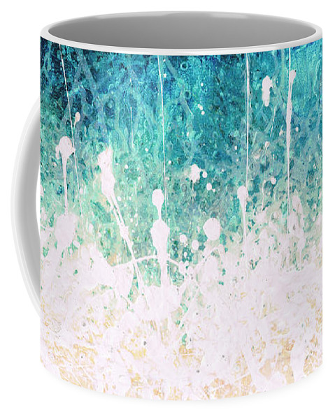 Abstract Coffee Mug featuring the painting Splash by Jaison Cianelli